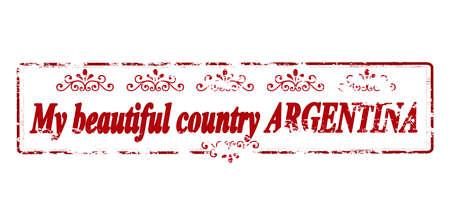 ゴム製スタンプ本文内部では、ベクター グラフィック私の美しい国アルゼンチン