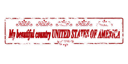 land mine: Rubber stamp with text my beautiful country United States of America inside, vector illustration