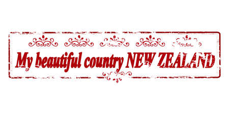 land mine: Rubber stamp with text my beautiful country New Zealand inside, vector illustration Illustration
