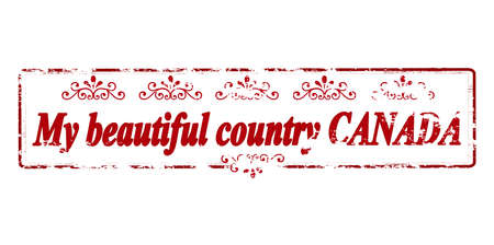 canada stamp: Rubber stamp with text my beautiful country Canada inside, vector illustration