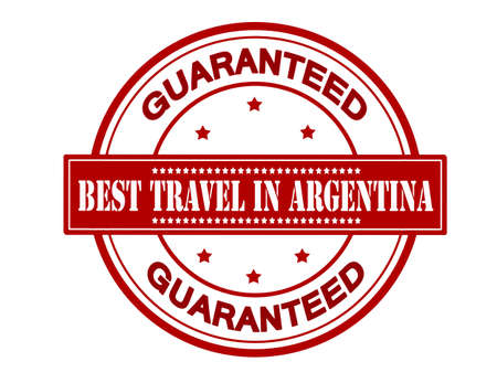 fare: Rubber stamp with text best travel in Argentina inside, vector illustration