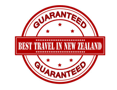 fare: Rubber stamp with text best travel in New Zealand inside, vector illustration Illustration