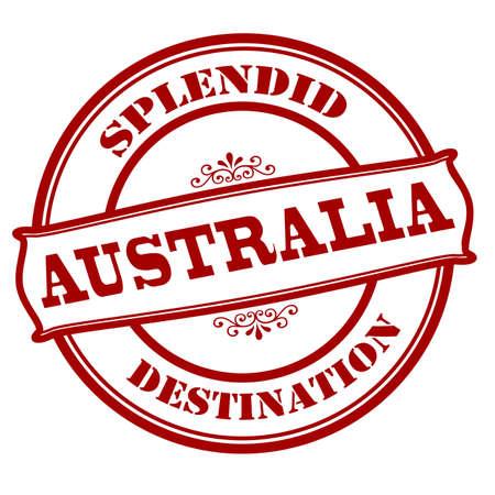 splendid: Rubber stamp with text splendid destination Australia inside, vector illustration Illustration