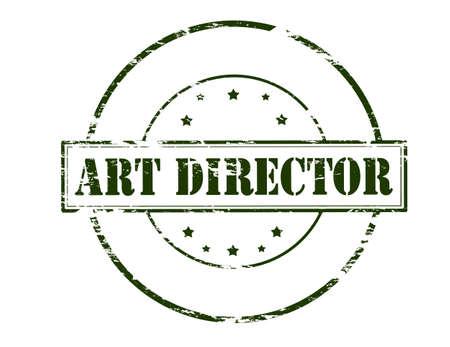 director de escuela: sello de goma con el director del arte del texto en el interior, ilustración vectorial