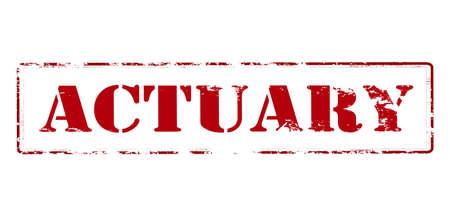 actuary: Rubber stamp with word actuary inside, vector illustration Illustration