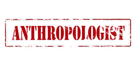 anthropologist: Rubber stamp with word anthropologist inside, vector illustration