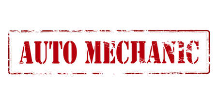 mechanician: Rubber stamp with text auto mechanic inside, vector illustration