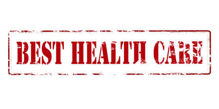 healthfulness: Rubber stamp with text best health care inside, vector illustration Illustration