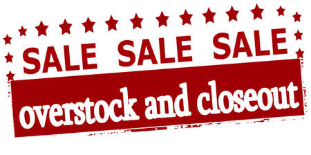 closeout: Rubber stamp with text sale overstock and closeout inside, vector illustration
