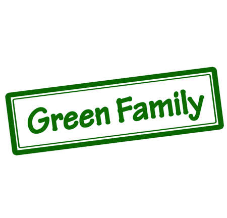 parentage: Rubber stamp with text green family inside
