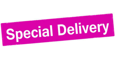 especial: Rubber stamp with text special delivery inside, vector illustration