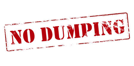 dumping: Rubber stamp with text no dumping inside, vector illustration
