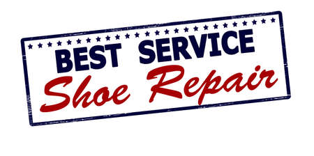 shoe repair: Rubber stamp with text best service shoe repair inside, vector illustration