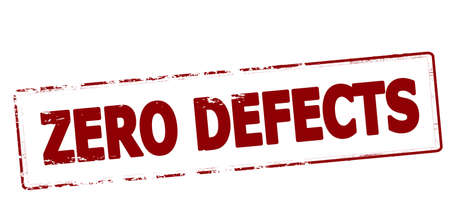 failing: Rubber stamp with text zero defects inside, vector illustration