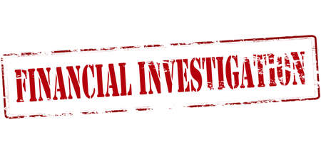 inquiry: Rubber stamp with text financial investigation inside, vector illustration