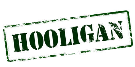 hoodlum: Rubber stamp with word hooligan inside, vector illustration Illustration