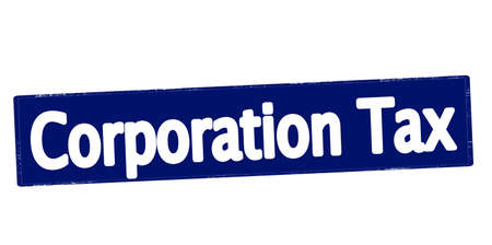 corporation: Rubber stamp with text corporation tax inside, vector illustration Illustration