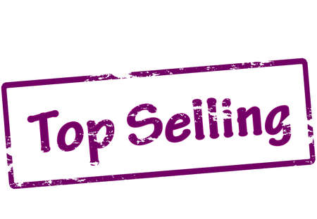 realize: Stamp with text top selling inside, vector illustration Illustration