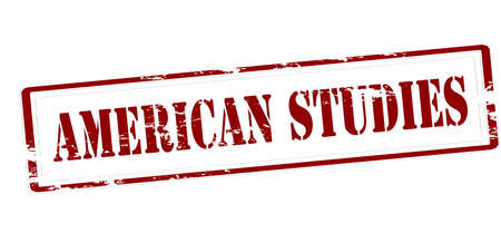 Stamp with text American studies inside, vector illustration Illustration