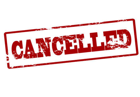 canceled: Stamp with word cancelled inside, vector illustration