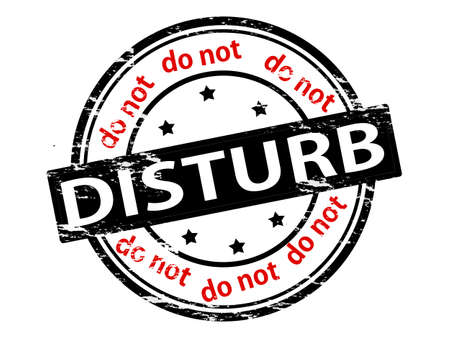 Stamp with text do not disturb inside, vector illustration