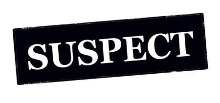 the suspect: Stamp with word suspect inside, vector illustration Illustration