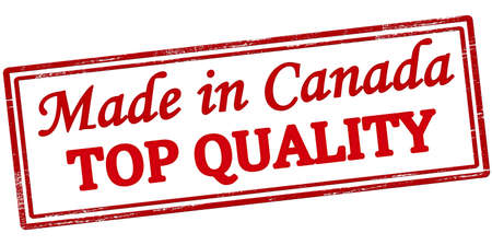 canada stamp: Stamp with text made in Canada top quality inside, vector illustration