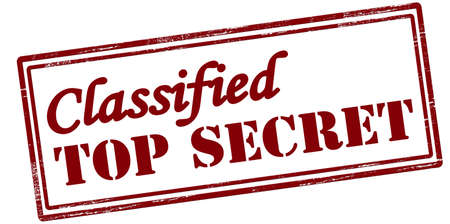 Stamp with text classified top secret inside, vector illustration Illustration