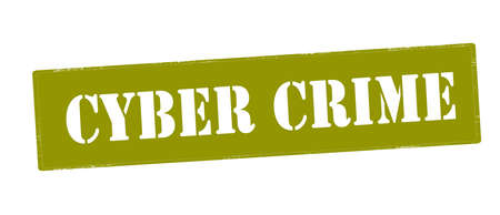 Stamp with text cyber crime inside, vector illustration