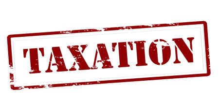 Stempel met woordbelasting binnen, vectorillustratie Stock Illustratie