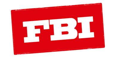 Stamp with text FBI inside, vector illustration