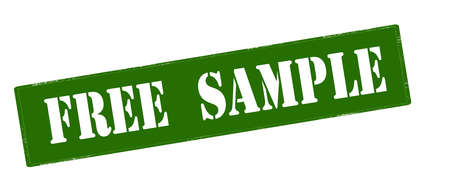 probation: Stamp with text free sample inside, vector illustration