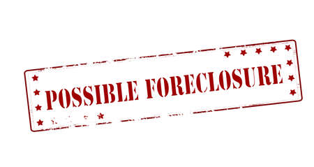 Stamp with text possible foreclosure inside, vector illustration