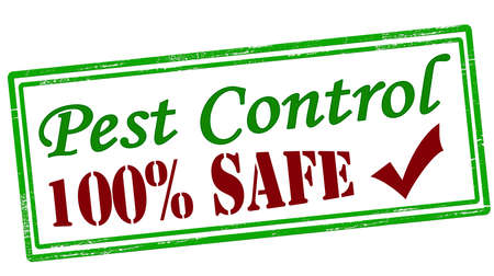 Stamp with text pest control inside, vector illustration