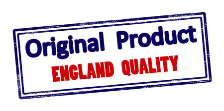 Rubber stamp with text original product England quality inside, vector illustration Illustration