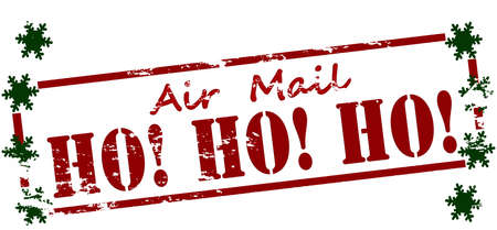 Rubber stamp with text air mail inside, vector illustration Иллюстрация