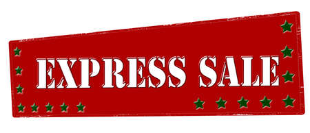 Rubber stamp with text express sale inside, vector illustration