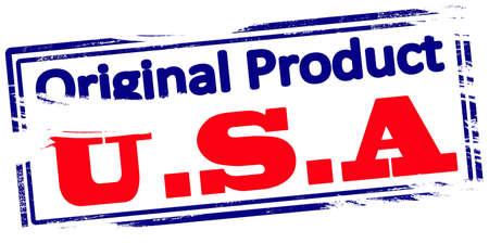 Rubber stamp with text original product USA inside, vector illustration Ilustração