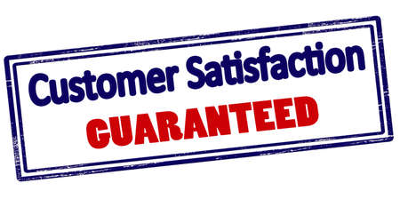 Rubber stamp with text customer satisfaction guaranteed inside, vector illustration