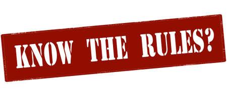 De rubberzegel met tekst kent binnen de regels, vectorillustratie. Stock Illustratie