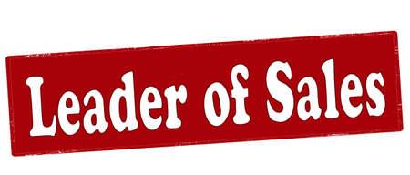 Rubber stamp with text leader of sales inside, vector illustration Illustration