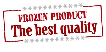 Rubber stamp with text frozen product the best quality inside, vector illustration Illustration