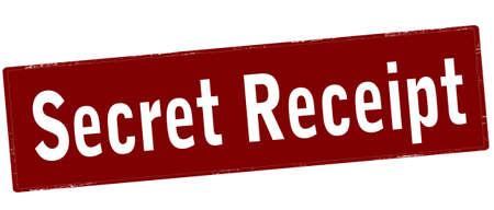 Rubber stamp with text secret receipt inside, vector illustration