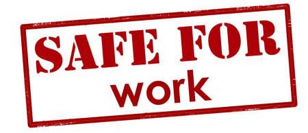 Rubber stamp with text safe for work inside, vector illustration Illustration