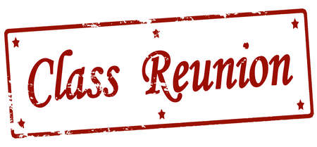 Rubber stamp with text class reunion inside, vector illustration