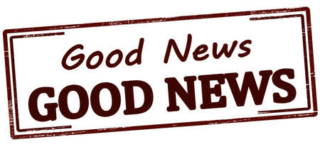 Rubber stamp with text good news inside, vector illustration Stock Illustratie