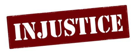 Rubber stamp with word injustice inside, vector illustration Illustration
