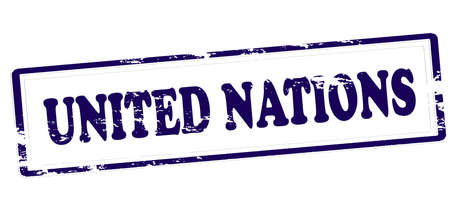 Rubber stamp with text united nations inside, vector illustration