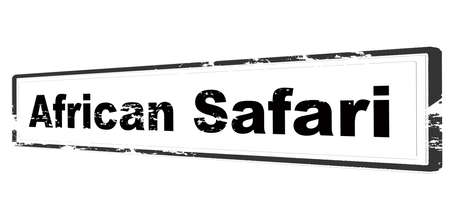 Rubber stamp with text African Safari inside, vector illustration Illustration