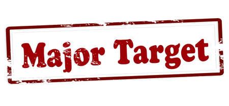 Rubber stamp with text major target inside, vector illustration